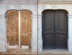 Zweiflüglige barocke Haustür